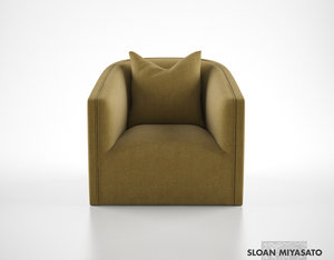 max sloan misayato crescent lounge chair