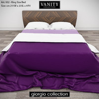 GIORGIO COLLECTION Vanity Art 932 King Size Bed