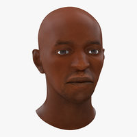 African American Male Head 2