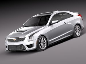 2016 coupe cadillac 3d model