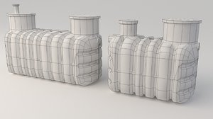 sewage treatment plants 3D model