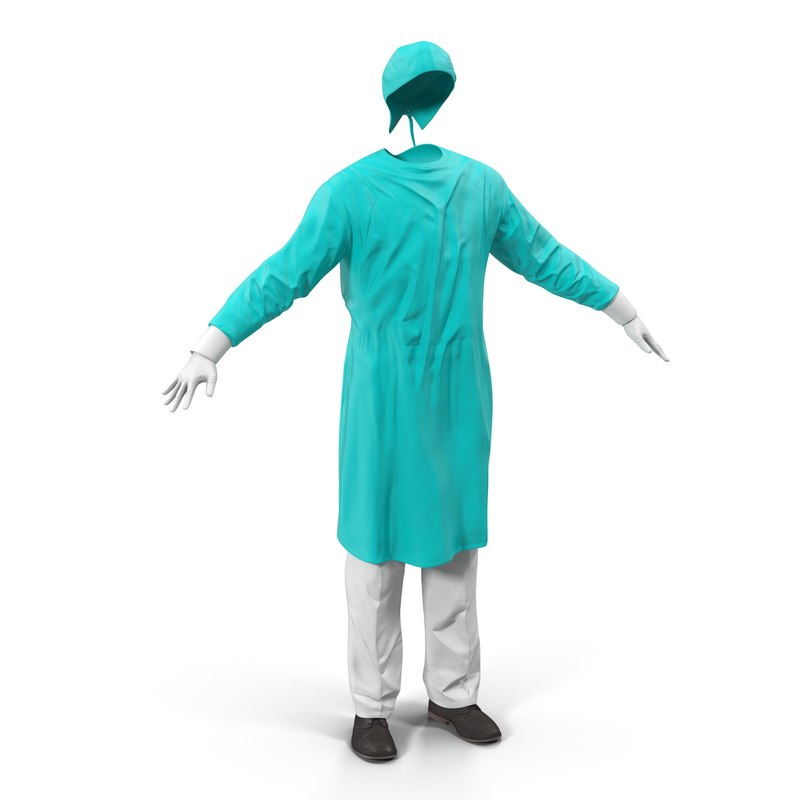 surgeon dress 3 modeled 3d model