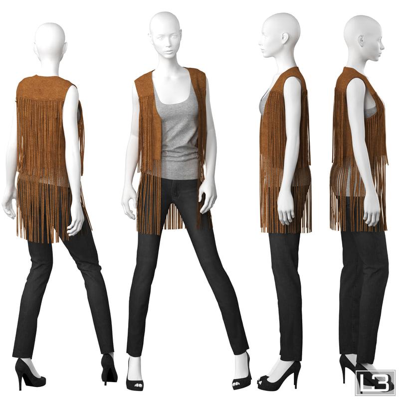 3d model woman mannequin