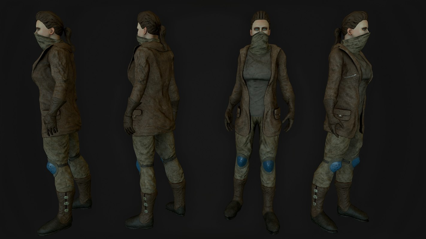 3ds max girl soldier