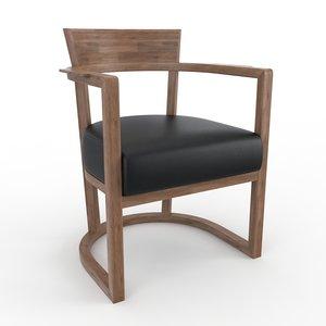 barchetta flexform chair 3d model