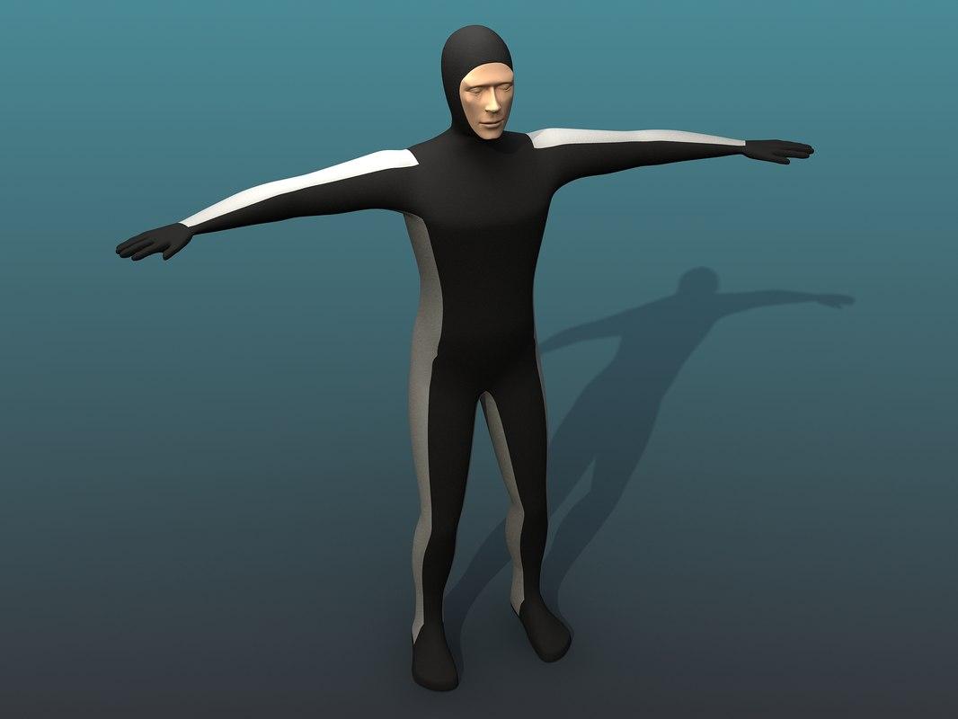 3d diver dummy