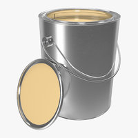 Open Paint Can 3D Model
