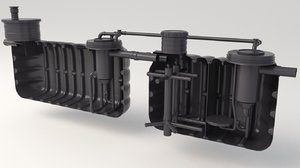 3D sewage treatment plants model