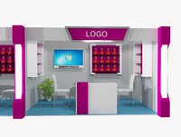 stand exhibition booth 3d max