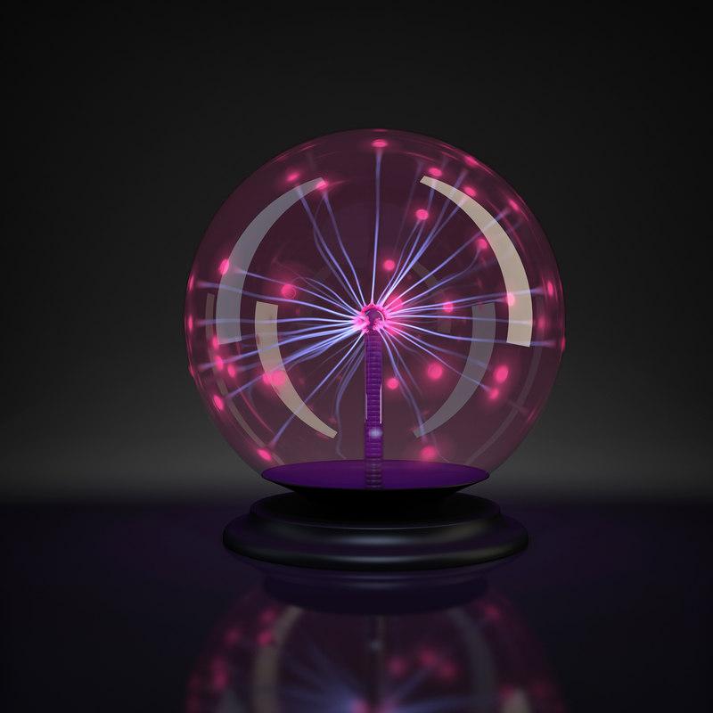 plasma ball light obj