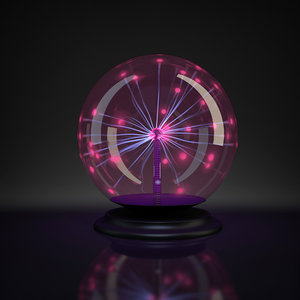 plasma ball light obj