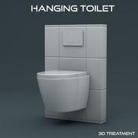 3dsmax hanging toilet