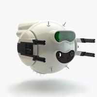 sci-fi drone battle robot 3d obj