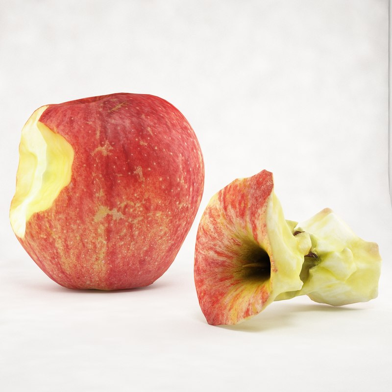 3ds max crunched stubbed apple
