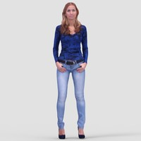 Nancy Casual Standing - 3D Human Model