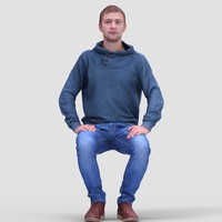 Paul Casual Sitting - 3D Human Model