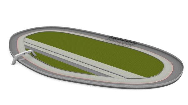 3d model oval nascar racetrack