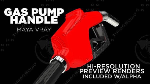 gas pump handle 3d 3ds