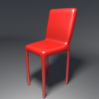 free plastic chair 1 3d model