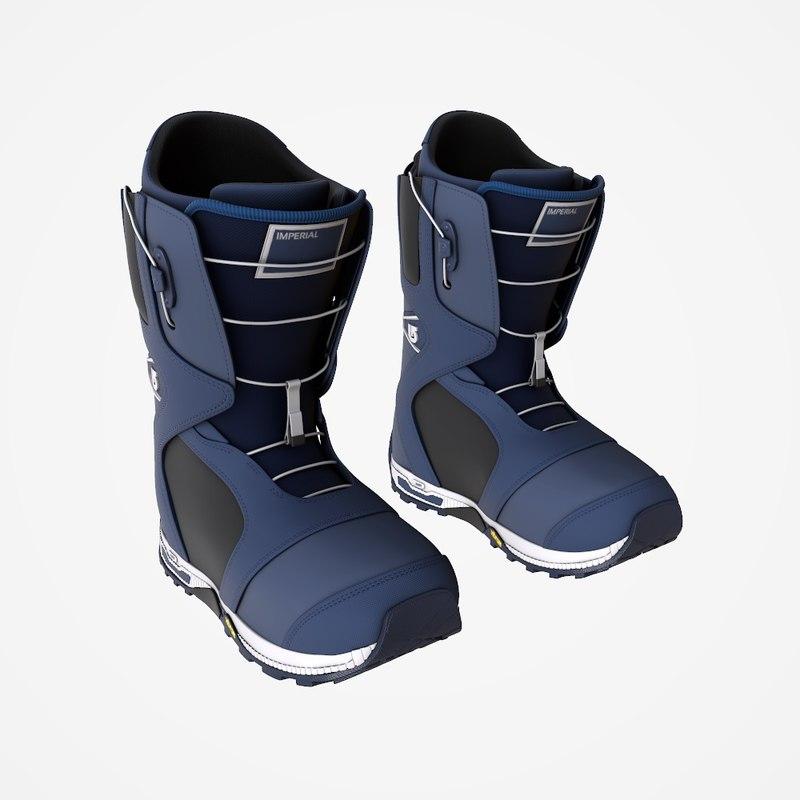3d max burton imperial snowboard boots