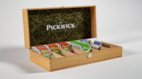 wooden box pickwick tea 3d dxf