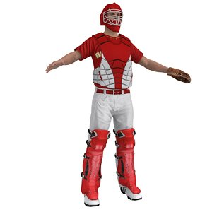 baseball catcher 3d model