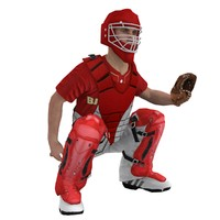 Baseball Catcher Rigged