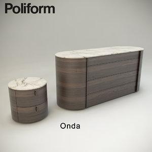 poliform onda 3d max