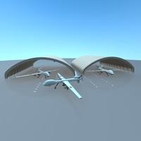 max building hangar drone