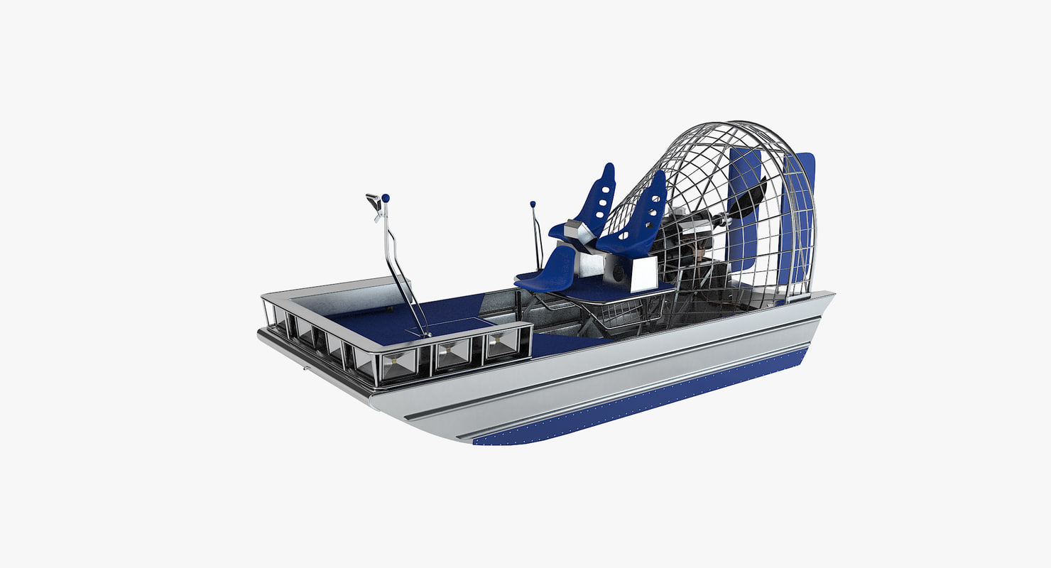 3ds max airboat air boat
