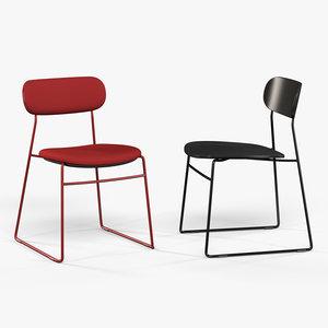 3d model modus plc wire chair