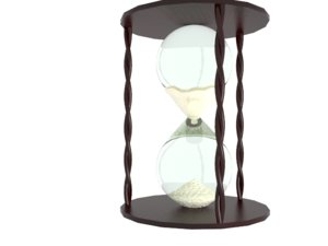 hourglass glass 3d max