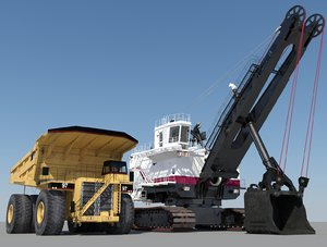 3ds max mining shovel heavy