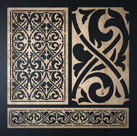 max decorative laser cutting pattern