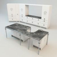 3ds max visionnaire kitchen set