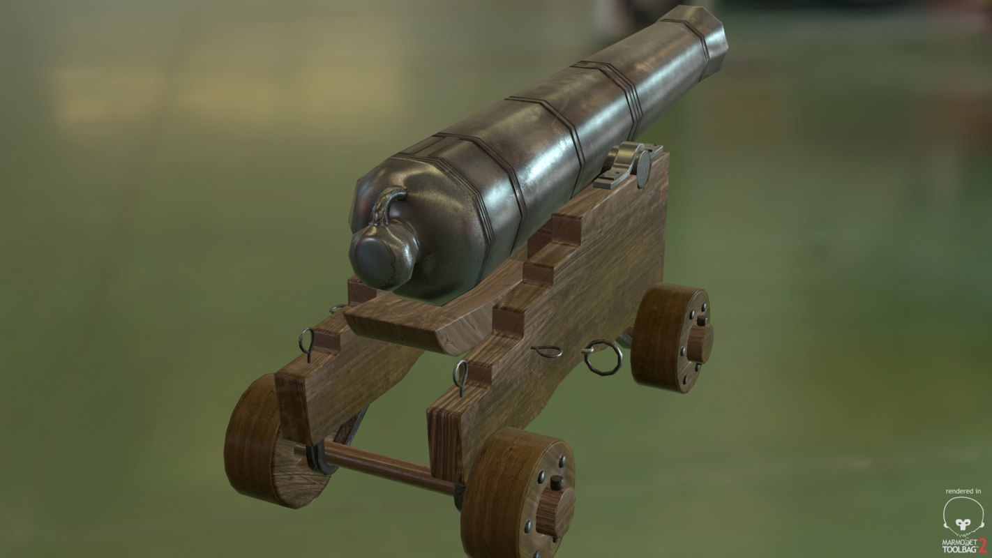 3d model of 18th century cannon
