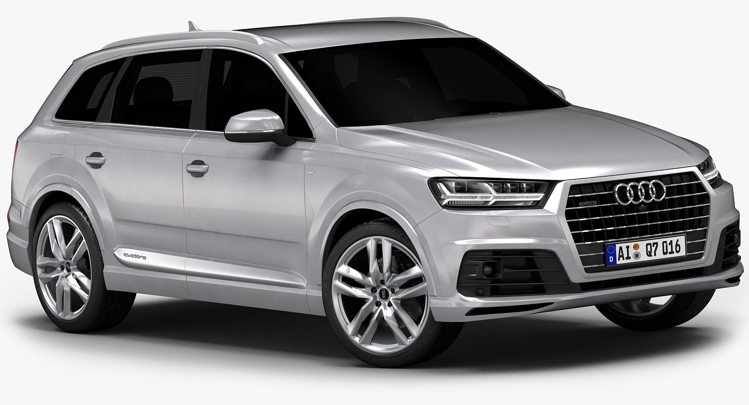 2016 audi q7 s 3d model. Black Bedroom Furniture Sets. Home Design Ideas