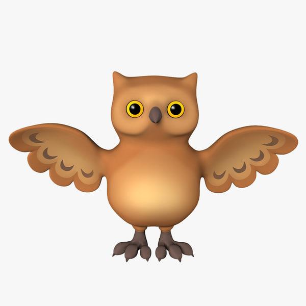 3ds max owl cartoon toon