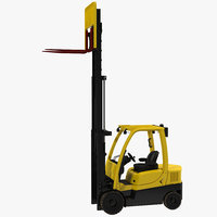 forklift rigged 3d model