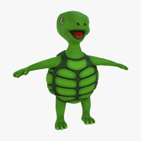 3d cartoon turtle