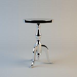 3d model eichholtz stolik aluminium