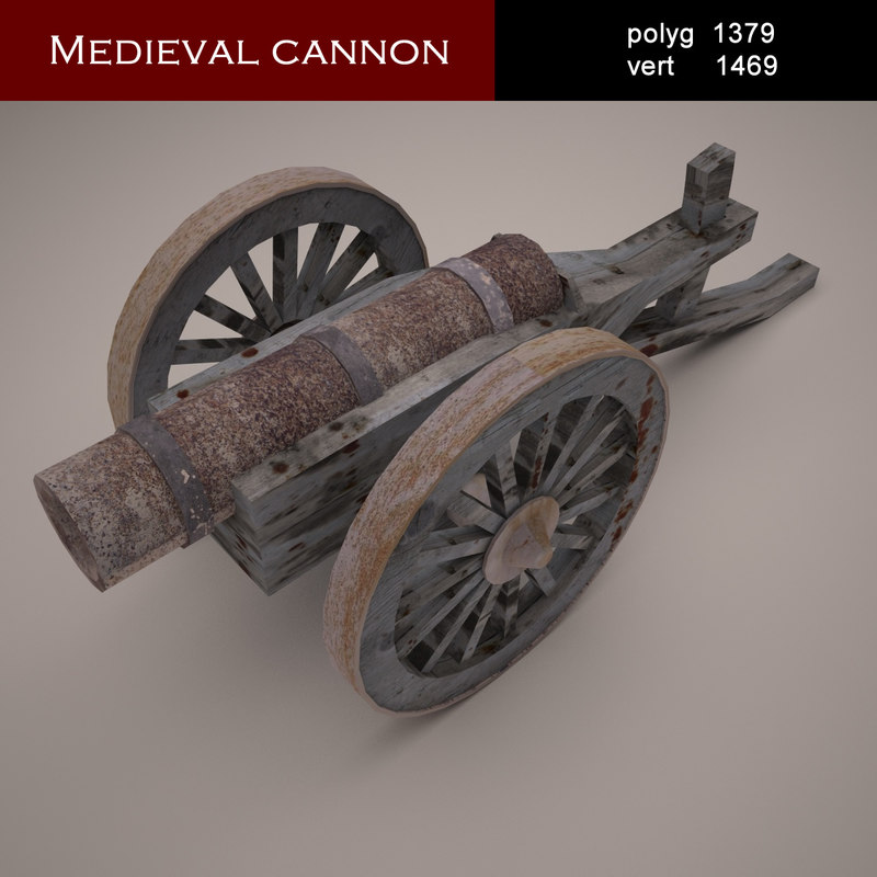medieval cannon 3d 3ds