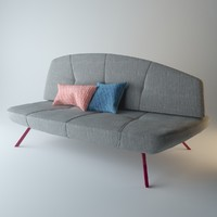 3ds max designed bandy sofa