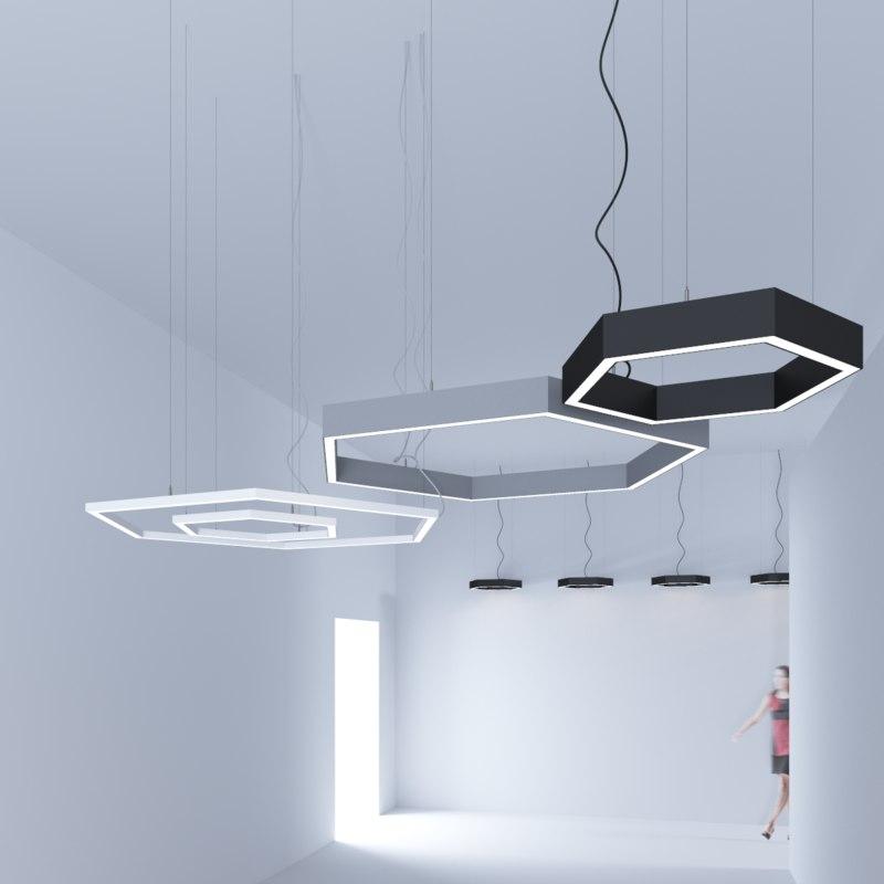 free 3ds mode pendant led lights