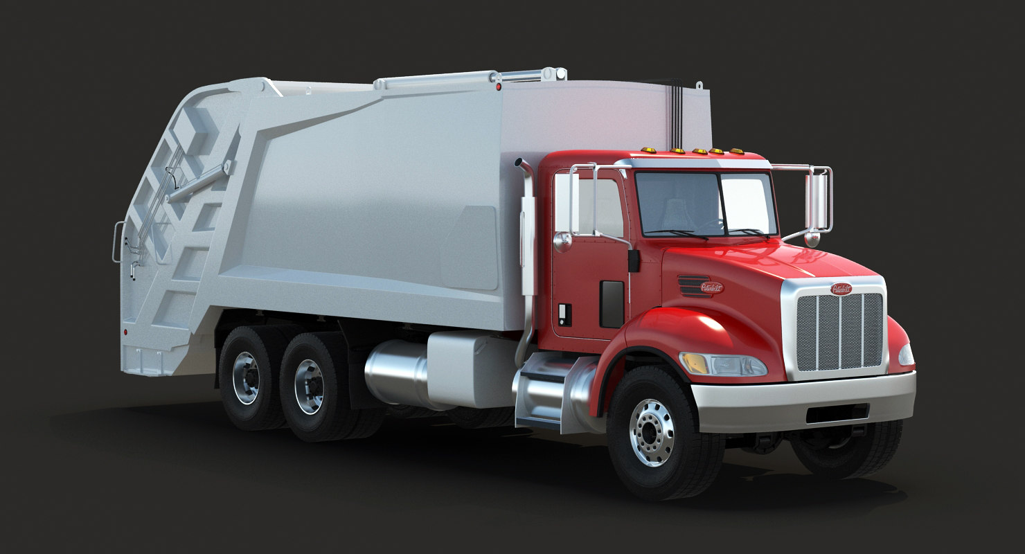 garbage truck 348 3d model