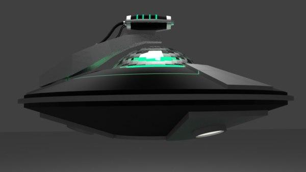 simple flying saucer 3d model
