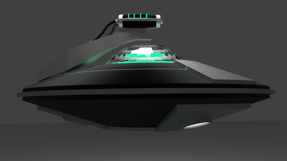 simple flying saucer 3d model