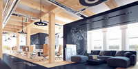 Creative office interior scene