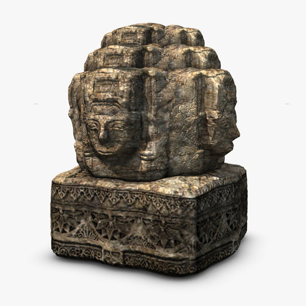 3d stone head