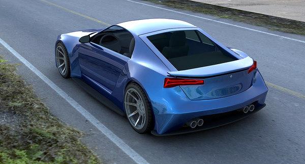 3d max concept sport car